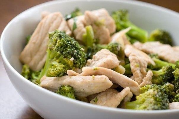 Диетические куриные грудки с брокколи