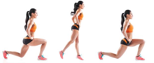 Как сделать выпады на одну ногу